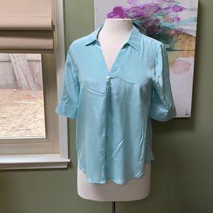 Silk short sleeve J Crew button-down NWT